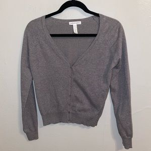 Ambiance Tops - CROP BUTTON CARDIGAN